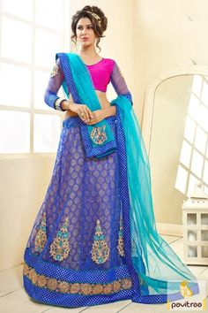 Buy online blue pink jacquard lehenga with anarkali suit which is made with embroidered lace and patch with stone work. Diwali Special Discount Offer:  5% OFF FOR Buy 1 Product 10% OFF FOR Buy 2 Product 15% OFF FOR Buy 3 Product or more  #lehenghacholi, #weddingwearcholi, #bridallehenghacholi, #anarkalisalwarsuit, #designeranarkalisuit, #2in1lehenghaanarkali For more : http://www.pavitraa.in/store/anarkali-salwar-suit/ callus: +91-7698234040