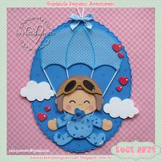 Doce Arte by Pati Guerrato Foam Crafts, Baby Crafts, Diy And Crafts, Paper Crafts, Shower Bebe, Baby Boy Shower, Scrapbook Bebe, Baby Shawer, Quilling Art