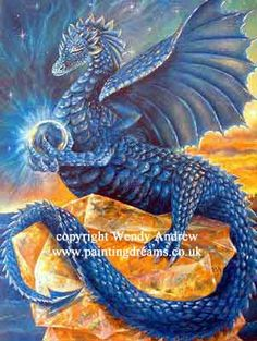 Indigo Meditation Dragon  Indigo is the colour of Psychic skills, self realisation, clarity of perception, insight and imagination.  -Wendy Andrew