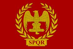 Flag of Ancient Roman Empire Ancient Rome, Ancient Greece, Ancient History, Rome Antique, Roman Legion, Empire Romain, Templer, Roman History, Roman Emperor