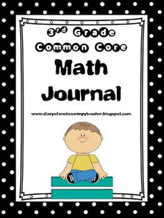 Third Grade Common Core Math Journal!!! It includes 100 full page prompts that are printable or projectable. Prompts ask students to defend and explain their answers! Common Core Standards are listed on each prompt and every single 3rd grade math standard is covered! The preview has 5 FREE prompts from the unit!