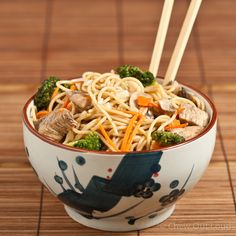 Homestyle Chicken Chow Mein Noodles