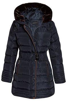 cc66b1cc763 Shelikes Womens Hooded Quilted Winter Coat Sizes UK 8 10 12 14 16 at Amazon  Women s Coats Shop