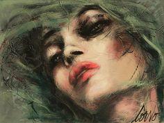 Corno, Faces, Face with Green Hair, 36 x 48