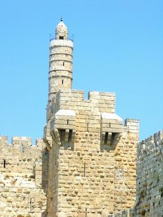 """The Tower of David is an ancient citadel located near the Jaffa Gate entrance to the Old City of Jerusalem.  It contains important archaeological finds dating back 2,700 years.  The name """"Tower of David"""" is due to Byzantine Christians who believed the site to be the palace of King David.  The Tower of David Museum of the History of Jerusalem is located within the citadel.  by Ori Lubin אורי לובין"""