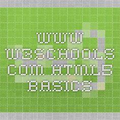 www.w3schools.com- HTML5 Basics