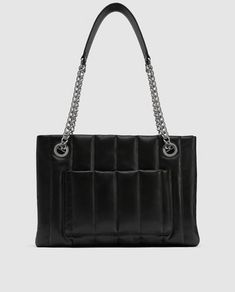 49658fd68c0 Image 2 of QUILTED LEATHER TOTE BAG WITH CHAIN DETAIL from Zara Bags 2018,  Zara
