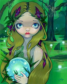 Absinthe Mermaid by Jasmine Becket-Griffith Gothic Poster 19x13 ART PRINT