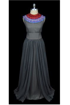 Christian Dior Sleeveless Silk Chiffon Gown in Gray    Be A Complete Unique With These 50 Outta-Sight Vintage Frocks