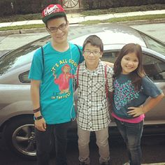 Tyler, Conner and Tristyn Le ready for their first day of school.