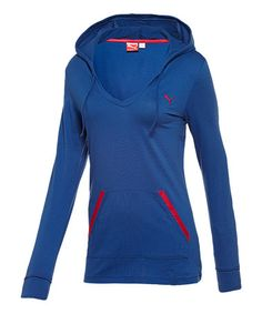 Take a look at this Mazarine Blue & Virtual Pink Holiday Hoodie by PUMA on #zulily today!