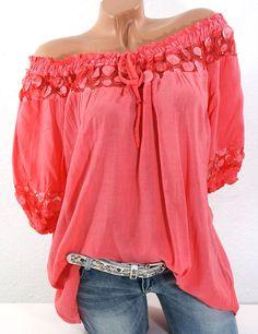 38 40 42 44 tunic blouse shoulder shirt sequins batik italy koralle w Vogue Fashion, Boho Fashion, Fashion Outfits, Fashion Design, Moda Hippie, Moda Formal, Moda Outfits, Moda Chic, Tunic Blouse