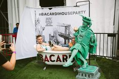 Bacardi's Untameable House Party: A New York-theme photo booth invited guests to pose next to the Statue of Liberty.