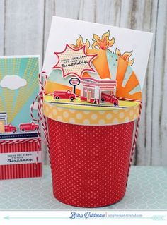 Sound The Alarm Gift Packaging by Betsy Veldman for Papertrey Ink (May 2015)