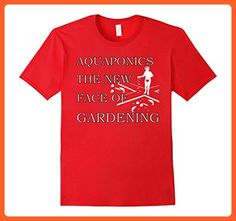 Mens Aquaponics T shirt - Cycle Planting Growing Organic Food XL Red - Food and drink shirts (*Partner-Link)