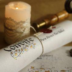 Convite Pergaminho Medieval