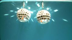 Vintage Earrings Disco Ball Earrings Dancing with the by QVintage, $25.00