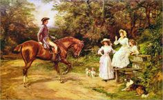 Heywood Hardy (english, 1842-1933) - A Meeting by the Stile