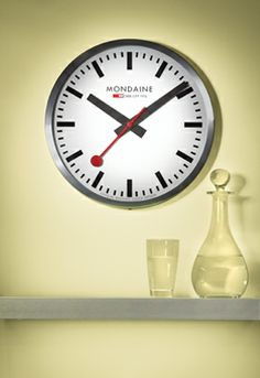 1000 images about swissness on pinterest switzerland zermatt and swiss flag - Swiss railway wall clock ...