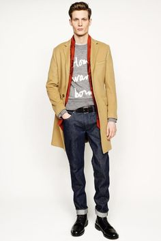 J.Crew Fall/Winter their latest collection during New York Fashion Week as usual, J.Crew unveiled a range with a casual confidence. Fashion Moda, Suit Fashion, Mens Fashion, Fashion Photo, Fashion 2014, Winter Fashion, Men's Collection, Winter Collection, Vogue Paris