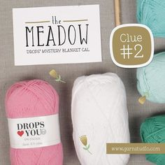 """Yes! It's time for the second clue of DROPS' Mystery CAL """"The Meadow"""" - and you can find it by clicking the link in our bio!    #dropscal #themeadow #crochet #blanket #dly7 by dropsdesign"""