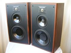"""Polk Audio Monitor 7. When I bought my first """"adult"""" stereo, I purchased a pair of these. To my memory, the best sounding speakers I've ever owned. Ultimate Man Cave, Loudspeaker, Audiophile, Speakers, Monitor, Rooms, Lifestyle, Image, Bedrooms"""