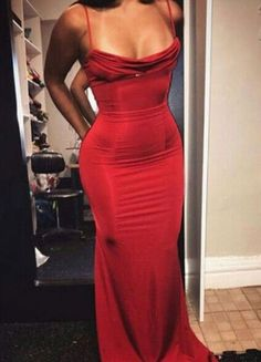 Elegant Prom Dresses, Sexy Mermaid Spaghetti Straps Red Satin Long Prom Evening Dress Shop for La Femme prom dresses. Elegant long designer gowns, sexy cocktail dresses, short semi-formal dresses, and party dresses. Elegant Dresses, Pretty Dresses, Beautiful Dresses, Sexy Dresses, Summer Dresses, Red Formal Dresses, Summer Maxi, Formal Wear, Casual Dresses