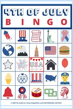 This of July BINGO game is guaranteed to be entertaining! From patriotic calling cards to the gold star markers everyone will enjoy! Printable Bingo Games, Free Bingo Cards, Free Printables, Fourth Of July Crafts For Kids, 4th Of July Games, School Age Activities, 4th Of July Decorations, Calling Cards, Favorite Holiday