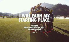 Nike #makeitcount football,soccer