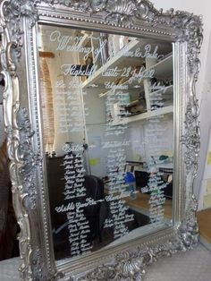 Mirror Table Plans