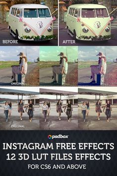 Free 3D LUT files. Photo Effects Pack, instagram style. Free download.