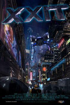 """XXIT"" - cyberpunk short film by Sam Nicholson It remembers Blade Runner. Mamoru Oshii, Sci Fi Shorts, Ghost In The Shell, Blog Images, Blade Runner, Time Travel, Short Film, Cyberpunk, Italia"
