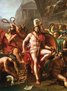 Leonidas at Thermopylae (Detail) - Jacques-Louis David, 1814