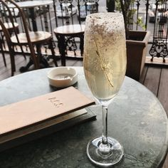 """@eatwithme_ct on Instagram: """"What's Sunday brunch without a glass of champagne? Or in the case of this photo a Lady Lilac from Athletic Club & Social. • • • #yum…"""" Glass Of Champagne, Athletic Clubs, Sunday Brunch, Lilac, Eat, Drinks, Tableware, Instagram, Drinking"""