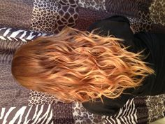 Golden dark blonde roots with two tone blonde ombré done at Glam Rock Hair Studio