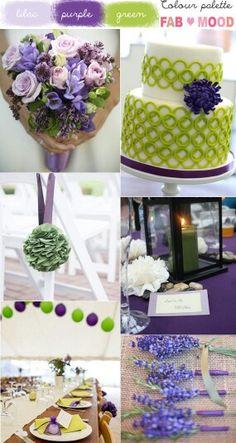 Color theme: lilac, purple, green