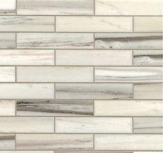 Walker Zanger- Helsinki-Silver Dusk Marble Tile for backsplash (long brick-honed 1-1/4'' x 6'')