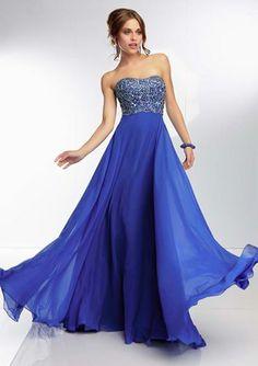 La elegancia del azul en los vestidos de Fiesta Mori Lee