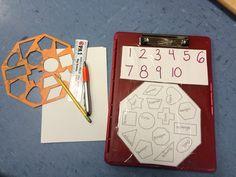 New! Math center clip board