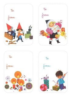 41 Sets of Free Printable Christmas Gift Tags: Christmas Gift Tags From My Girl Thursday