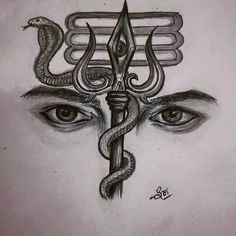 Here you will find most beautiful and attractive Shiva tattoo designs and ideas for your Shiva tattoos, Lord shiva beautiful tattoos and designs for men and women. Mahakal Shiva, Shiva Art, Nataraja, Tattoo Sketches, Drawing Sketches, Art Drawings, Drawing Ideas, Amazing Drawings, Drawing Tips