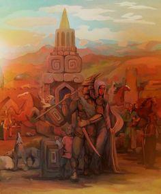 """Kazakh artist Yerlan Nazarkul. """"Attila"""", 2016"""