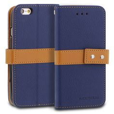 ModeBlu Journal Case iPhone 6S Case Series PU Leather Wallet Case Cover for Apple iPhone 6S & 6