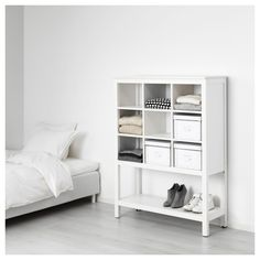 HEMNES Storage unit, white stained, Sustainable beauty from sustainably-sourced solid pine, a natural and renewable material that gets more beautiful with each passing year. Combine with other products in the HEMNES series. Retro Furniture, Ikea Furniture, Bedroom Furniture, Ikea Bedroom, Furniture Movers, Furniture Stores, Ikea Storage Units, Kids Storage, Shoe Storage