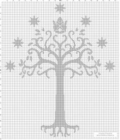 Portal do Ponto Cruz: A Árvore Branca de Gondor - In other words - the White Tree of Gondor!