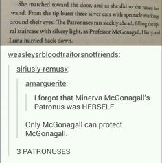"""This beautiful little McGonagall moment that we should never forget. 