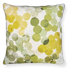 speckle citrus/green cushion 50x50cm