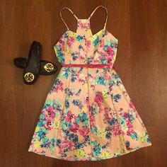 Gorgeous pink dress Brand new with tags! Never worn. Semi stretchy material with a very flattering fit! Candie's Dresses