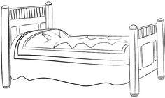 Zdjęcie: cama para colorear