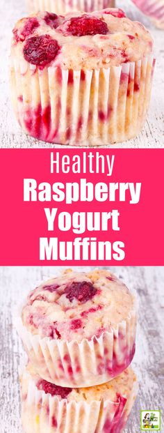 Raspberry Yogurt Muffins Start the day with these Healthy Raspberry Yogurt Muff. Raspberry Yogurt Muffins Start the day with these Healthy Raspberry Yogurt Muffins. These easy to Healthy Sweets, Healthy Baking, Healthy Recipes, Healthy Breakfast Options, Healthy Yogurt, Easy Healthy Deserts, Gluten Free Deserts Easy, Yummy Breakfast Ideas, Healthy Cupcakes